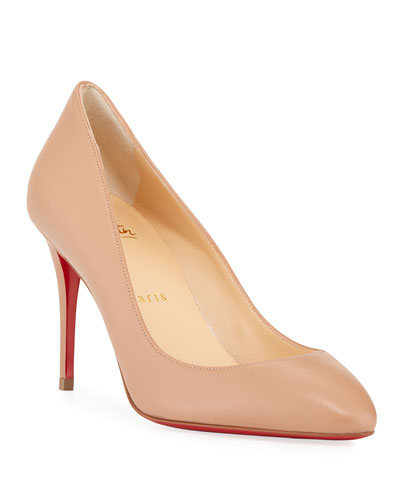 Eloise 85mm Napa Leather Red Sole Pump