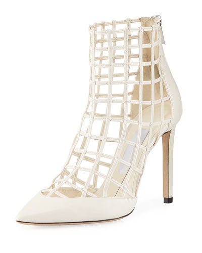 Sheldon Napa Leather Cage Bootie