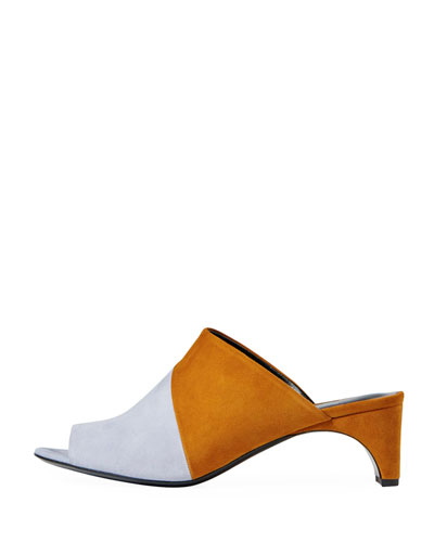 Cut Suede Mule Sandal