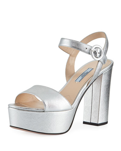 Metallic Platform 105mm Sandal