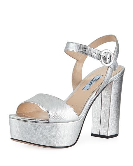 9491c78914 Prada Metallic Platform 105mm Sandal