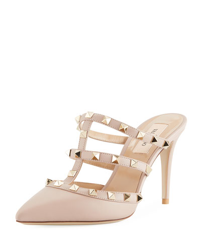 Rockstud Two-Tone Slide Mule