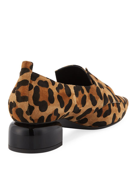 4607b01d626 Pierre Hardy Billy Leopard-Print Suede Stretch-Band Loafer