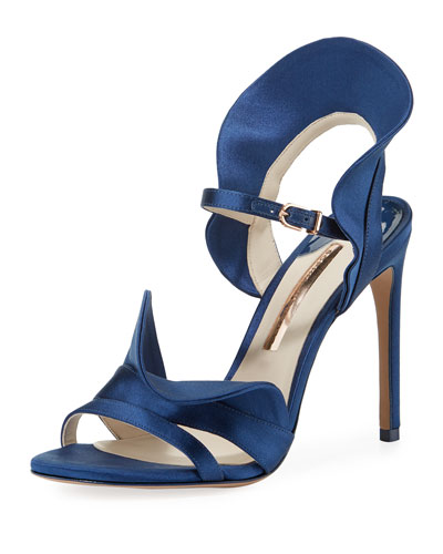 Lucia Ruffle Satin Sandals
