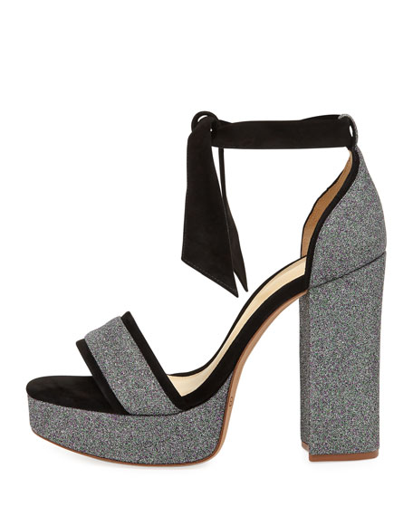 Celine Glitter Platform Sandal