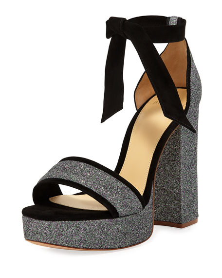 Alexandre Birman Celine Glitter Platform Sandal