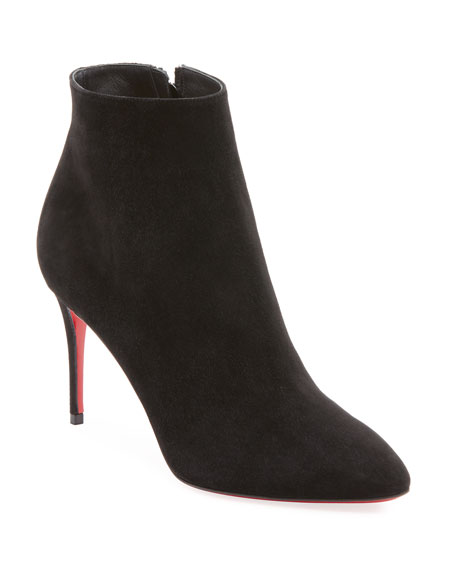 b54c3dc438d9 Christian Louboutin Eloise Suede Red Sole Booties