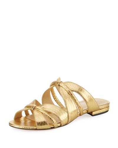Sue Metallic Snakeskin Sandal