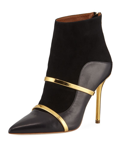Madison 100mm Napa/Suede Point-Toe Bootie