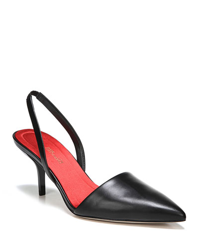Mortelle Slingback Leather Pump, Black