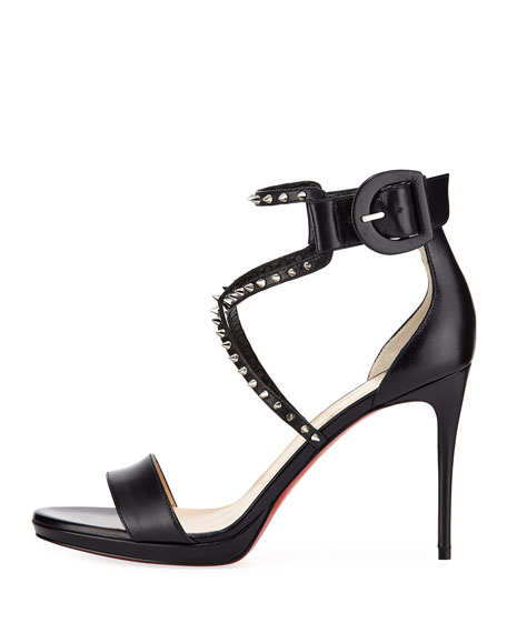 efcf0517e67 Christian Louboutin Choca Lux Red Sole Sandal