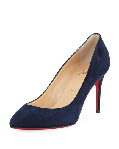 Eloise Veau Velours Red Sole Pump