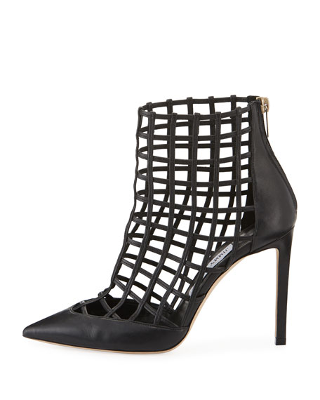 Sheldon Napa Cutout Caged Booties