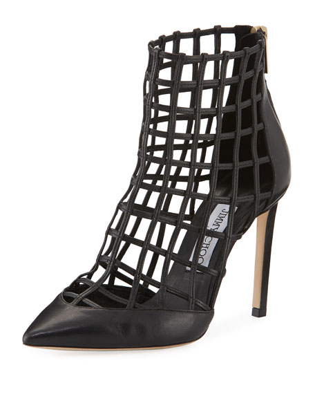 Sheldon Napa Cutout Caged Bootie