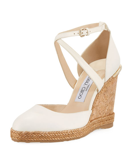 Alita Crisscross Wedge Pumps