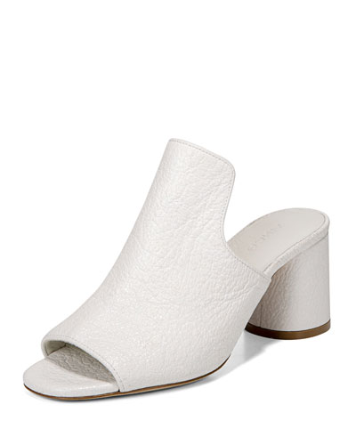 Tanay Crinkled Patent Slide Sandal