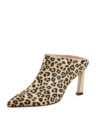 Mira Leopard Fur High Mule