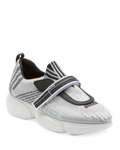 Metallic Knit Trainer Sneaker