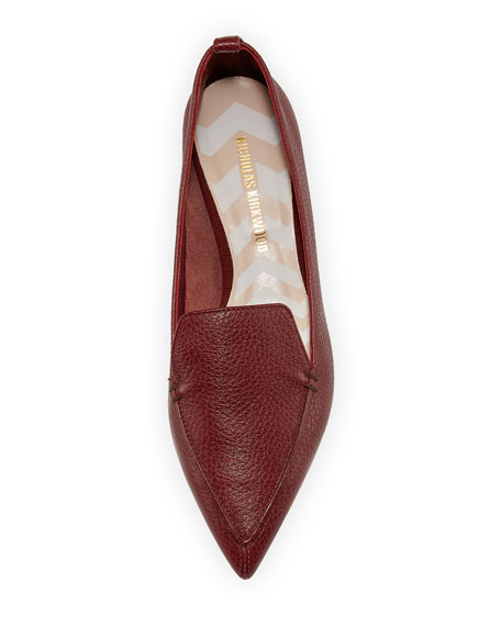 Beya Pebbled Leather Loafer