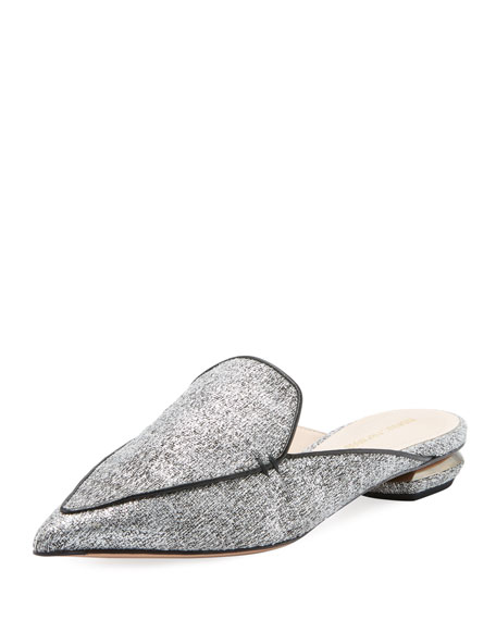 Beya Boucle Mules - Silver Size 11 in Metallic