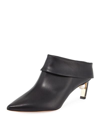 Mira Leather Slide Mule