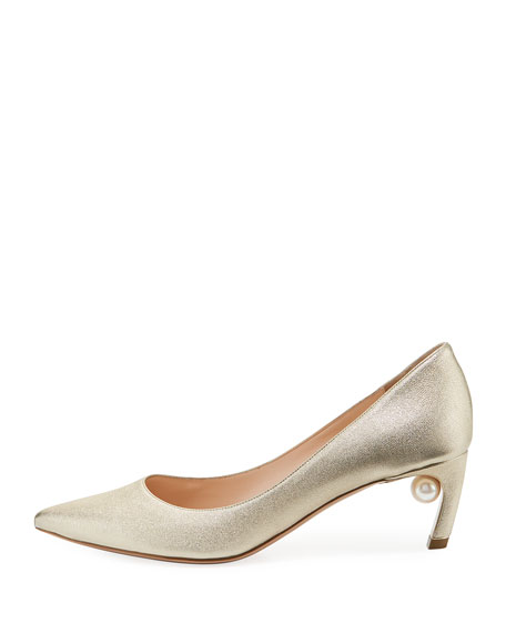 Mira Pearly Metallic Pumps