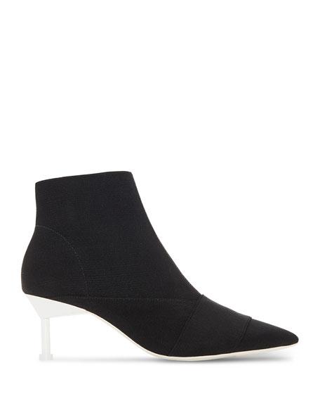 Elastic Booties with Contrast Heel
