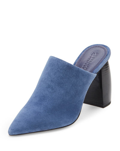 Caeden Suede 100mm Slide Mule