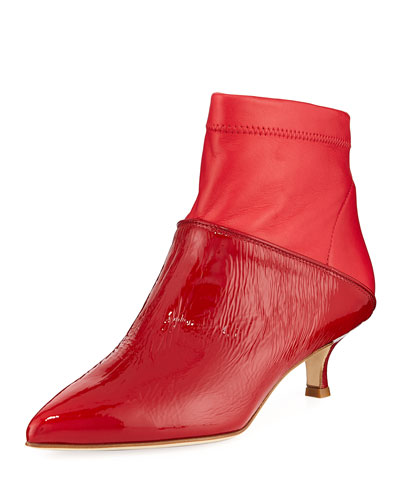 Jean Calf Kitten-Heel Boots