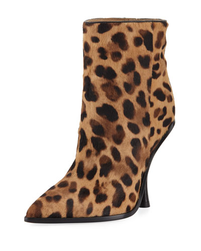 Hong Leopard-Print Point-Toe Boot