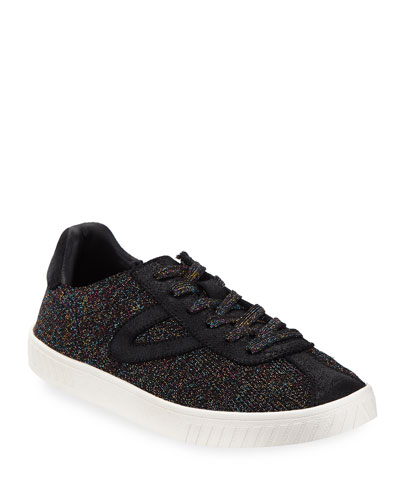Glittered Knit Platform Sneakers