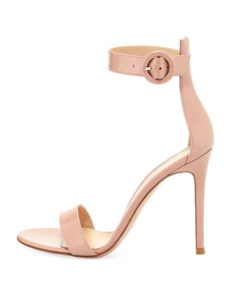 Portofino Patent 105mm Ankle-Strap Sandal