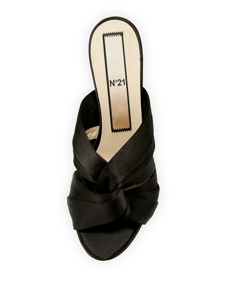 Satin Knot 70mm Slide Sandals