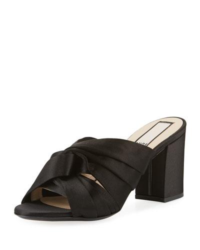 Satin Knot 70mm Slide Sandals