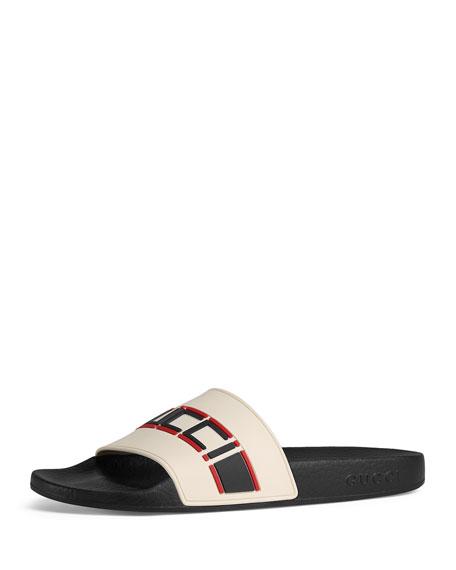 Logo Rubber Pool Sandals