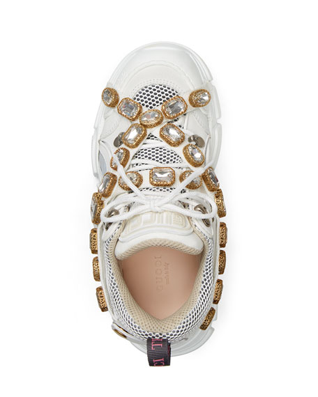 722fdba7536 Gucci Flashtrek Tonal Hiker Sneaker With Chain Strap