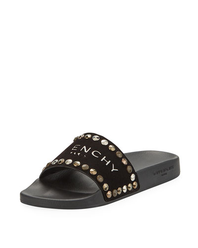 Logo Embellished Pool Sandals