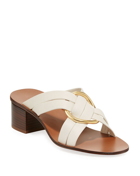 Chloe Rony Strappy Sandal with Gold Ring