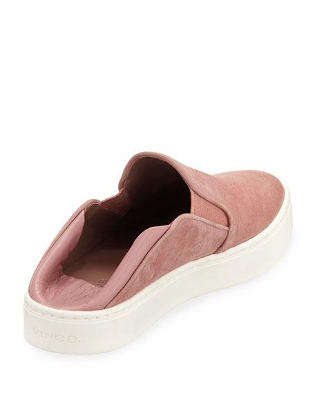 Garvey Suede Slip-On Sneakers w/ Fold-Down Back