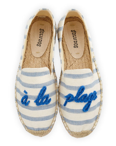 A La Plage Smoking Slipper Espadrille