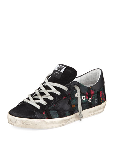 Superstar Suede/Jacquard Low-Top Sneakers