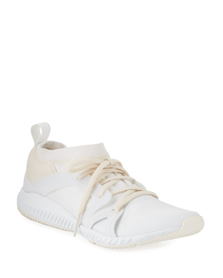 58a43b55835 adidas by Stella McCartney CrazyTrain Bounce Mid-Top Fabric Trainer Sneakers