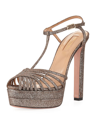 Moonlight Metallic Platform Sandals