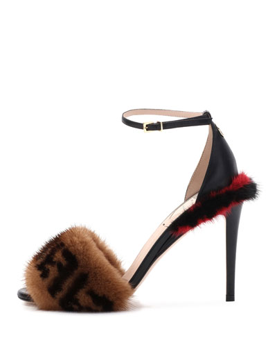 Fendi FF Mink Sandals