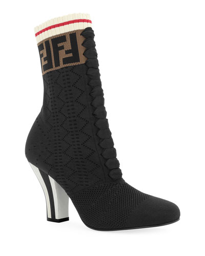 Rockoko Fendi Knit Sock Booties