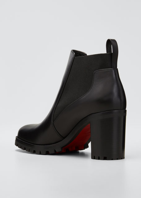 newest 6af17 339f5 Marchacroche Leather Red Sole Booties