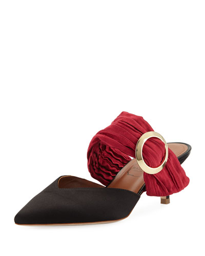 Maite Two-Tone Satin Mules