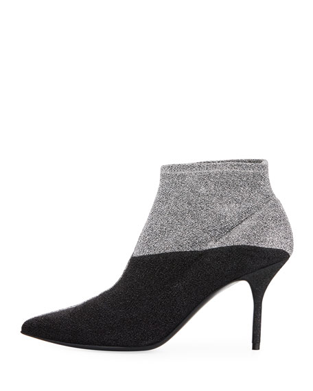 Kelly Two-Tone Ankle Booties