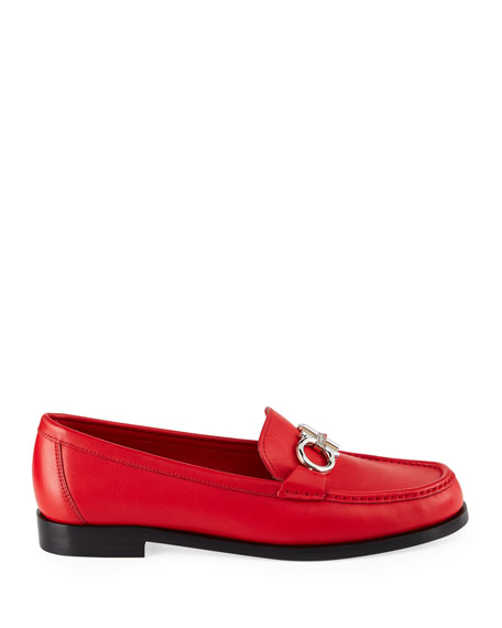 Rolo Calf Leather Loafers with Gancini Bit