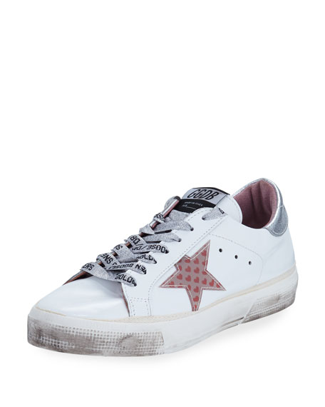 MAY LEATHER LOW-TOP SNEAKERS